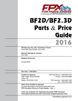 BF2D/BF2.3D PARTS GUIDE 2016