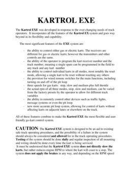 KARTROL EXE Manual 2-12