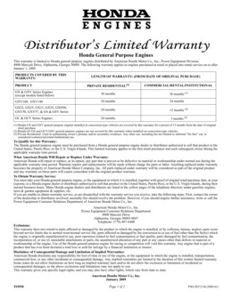 Warranty – Honda Engines