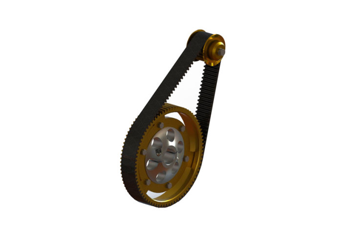 187 Steel Cog Pulley Synchronous Drive Belt Systemgo Karts