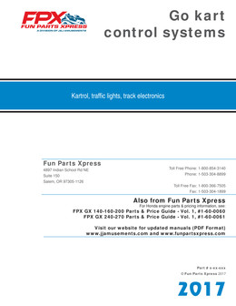 Go kart control systems