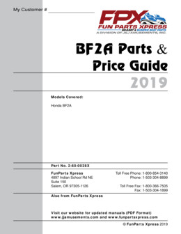 BF2A Parts guide – 2019