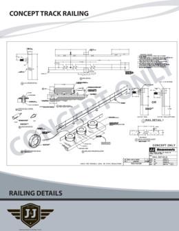 CONCEPT TRACK RAILING DETAILS