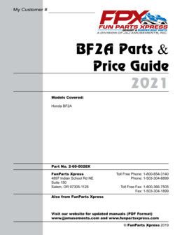 BF2A Parts Guide