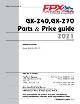 Honda GX-240-270 Parts Guide