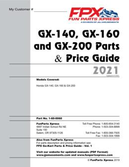 Honda GX140-160-200 Parts Guide