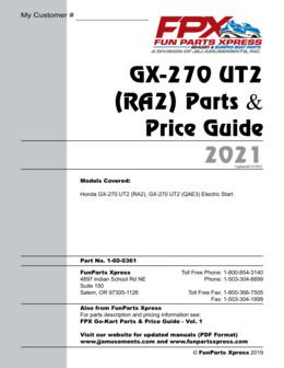 Honda GX270 UT2 Parts Guide